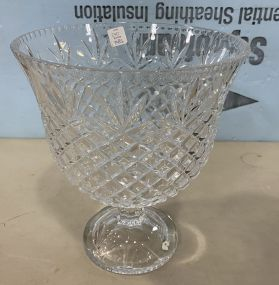 Large Crystal Center Piece Bowl