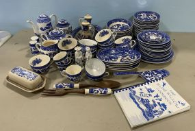 Large Group of Japan Blue Willow China