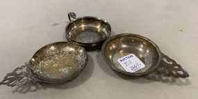 Three Sterling Nut Dishes