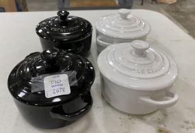 Four LE CREUSET Mini Pots
