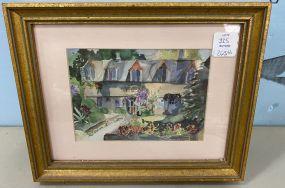 Edwina Goodman Watercolor of House