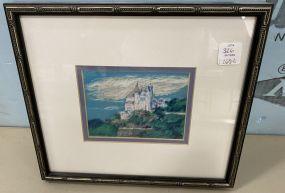 Nancy Mauldin Pastel of Castle