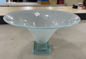 Annie Glass Signed Compote