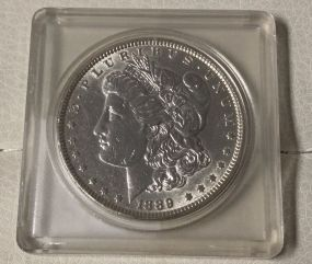 1889 Morgan Silver Dollar Fine