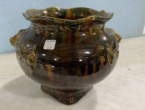 Majolica Style Glazed Vase