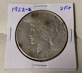 1922-S Peace Liberty Dollar  VF