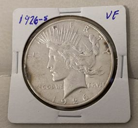 1926-S Peace Liberty Dollar VF