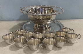 Silver Plate Punch Bowl