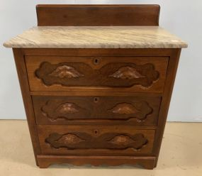Vintage Victorian Marble Top Chest