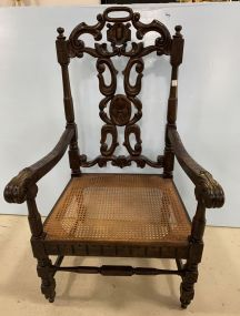Antique Victorian Style Arm Hall Chair
