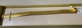 Italy .925 24K Gold Finish Omega Bracelet