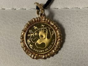 24K 1986 1/10 Ounce Gold Chinese Panda Coin