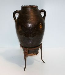 Pottery Jar on Stand