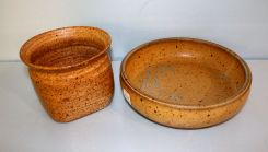 Pottery Vase and Bowl