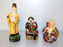 Three Chinese Porcelain Figurines