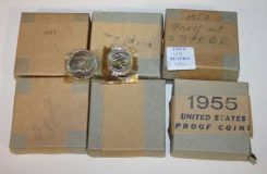 1950-1955 Proof Sets Coins