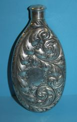 Rare Derby Silver Company Silverplate Whiskey Flask
