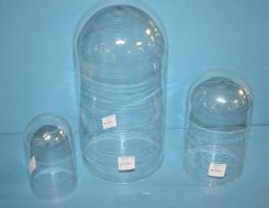 Three Various Sized Glass Domes