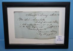 Bill of Purchase 1852