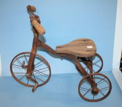 Early Iron and Wood Doll Tricycle