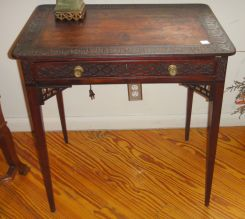 Mahogany Chinese Chippendale   Side Table