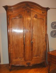 French Lyonnais Walnut Armoire   with Fabulous Carving