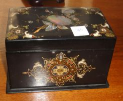 Victorian Mother of Pearl Tea Caddy