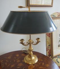 Pair of Very Fine Gilt Bronze Buillote Lamps