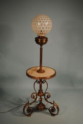 Victorian Bronze Piano Lamp