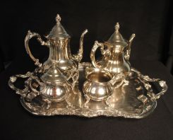 Towle Silver Plate Tea Set with Tray