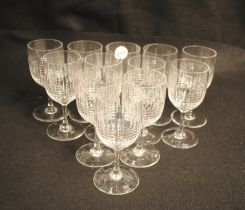 Set of Crystal Stemware