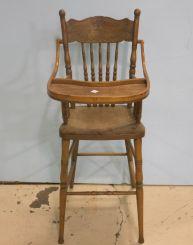 Oak High Chair