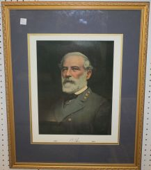 Framed and Matted Print of Robert E. Lee