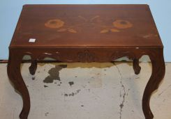 Walnut Inlaid French Coffee Table