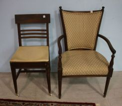 Two Vintage Chairs and One Arm Chair