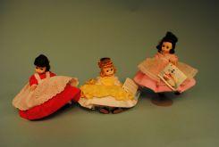 Collection of three Madame Alexander Dolls