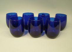 Set of 8 Libbey Cobalt Blue Highball Glasses