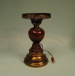 Brass & Wood Lamp
