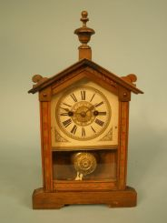 German Inlaid Strike Clock