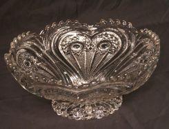 Large Pattern Glass Centerpiece Bowl