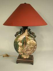 Porcelain Oriental Style Lamp