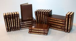 Set of One Hundred and Two Louis L'Amour Leatherette Books