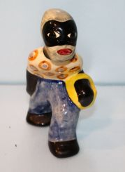 Shearwater Pottery Figurine of African American Carrying a Basket
