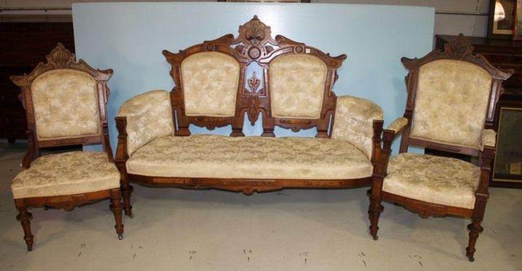 Eastlake Victorian Parlor Set