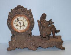 19th Century Spelter Clock