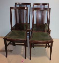 Set of Four Early 20th Century Art Nouveaux Style Side Chairs