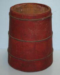 Painted Red Vintage Bucket