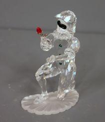 Swarovski 2001 Crystal Masquerade Harlequin Holding Flower