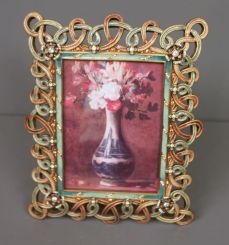 Jay Stongwater Limited Edition Enamel and Crystal 100P Design Frame