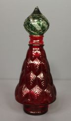 Red and Green Glass Decanter